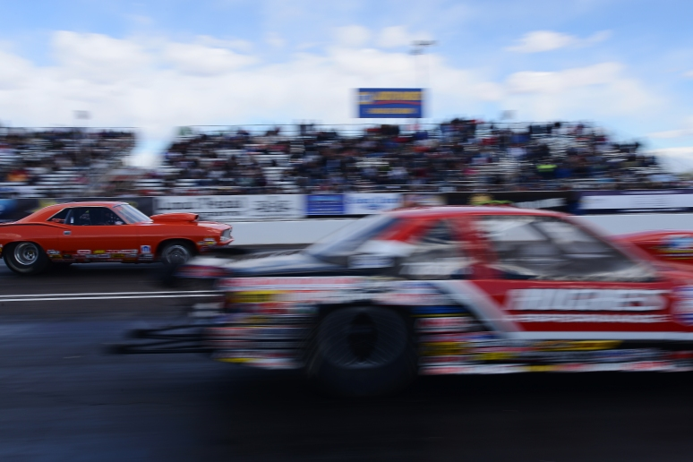 Super street racers speed down the track during the NHRA Arizona Natinoals on Sunday, Feb. 24, 2013 at Firebird International Raceway. Aaron Lavinsky/The Arizona Republic