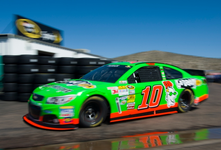 Danica Patrick takes her car out to the track after repairs in the garage on Friday, March 1, 2013 at Phoenix International Raceway. Aaron Lavinsky/The Arizona Republic